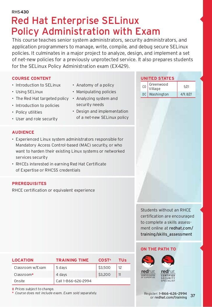 Redhat training &certification
