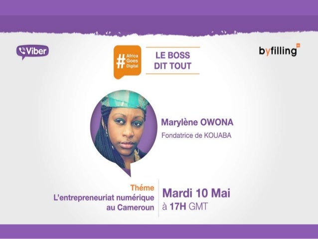 Rediffusion du #LBDT#4 du Mardi 10 Mai 2016, avec Marylène Owona, fondatrice de KOUABA. Thème: l'entreprenariat numérique ...