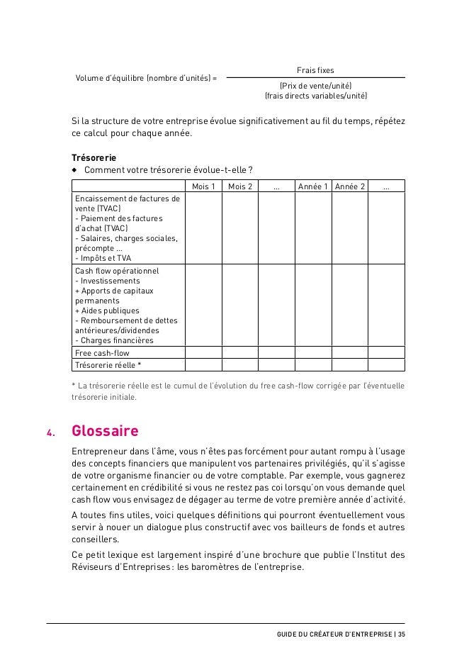 Rediger un business plan for Calcul precompte