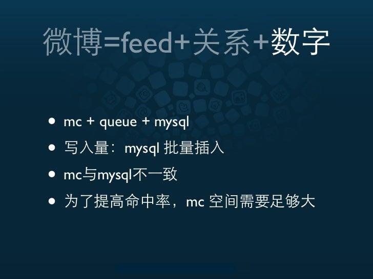 =feed+           +• mc + queue + mysql•         mysql• mc mysql•                  mc