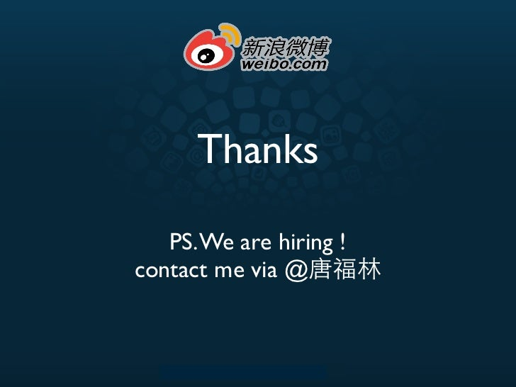 Thanks   PS. We are hiring !contact me via @