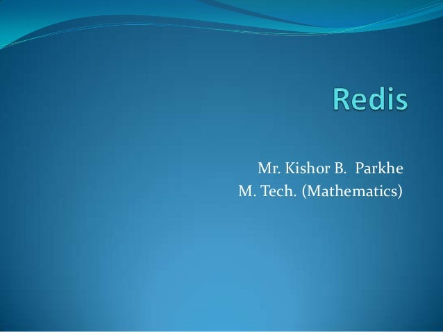 Mr. Kishor B. Parkhe M. Tech. (Mathematics)