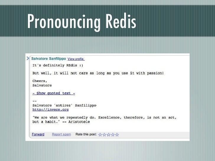 Pronouncing Redis