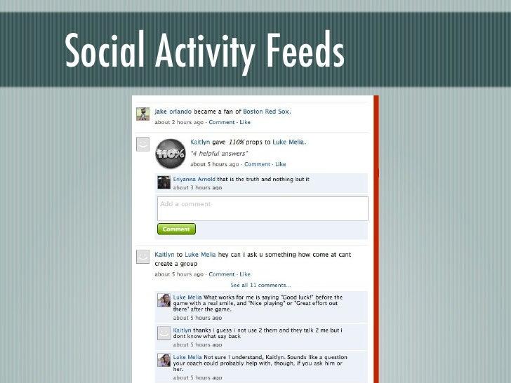 Social Activity Feeds