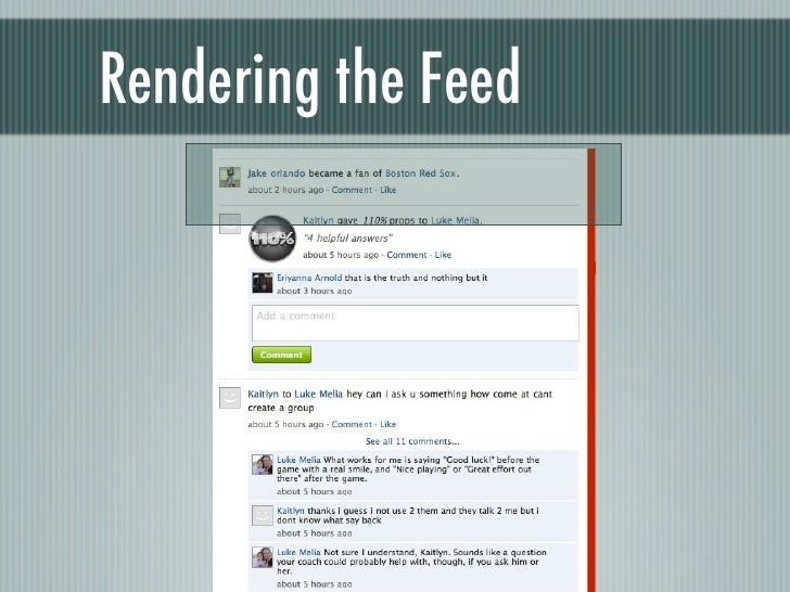 Rendering the Feed