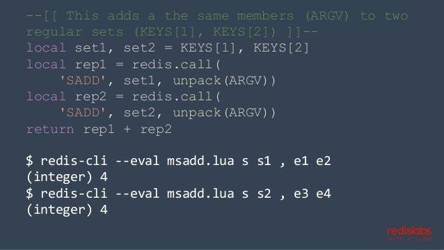 Redis Lua Scripts