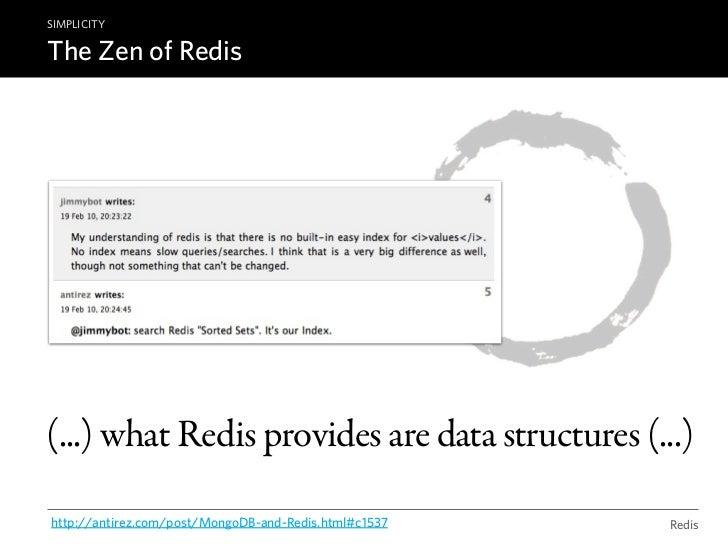 "REDIS DATA STRUCTURESStringsSET key ""value"" ~ 4 billion of keysGET key=> ""value""DEL key                         ..."