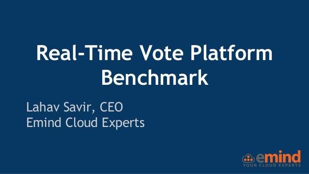 Real-Time Vote Platform Benchmark Lahav Savir, CEO Emind Cloud Experts