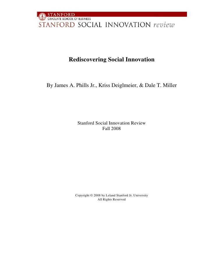 Rediscovering Social Innovation