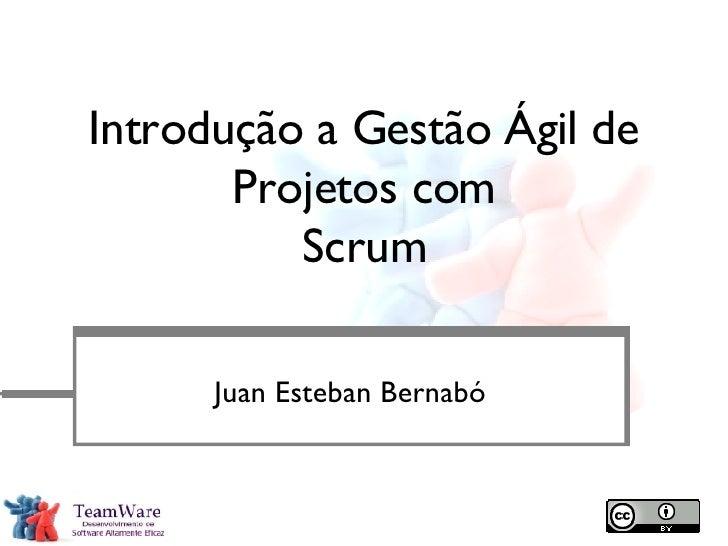 Introdução a Gestão Ágil de Projetos com Scrum <ul><li>Juan Esteban Bernabó </li></ul>