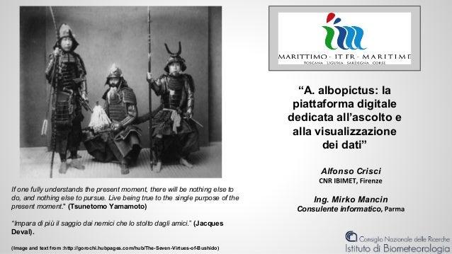 """""""A. albopictus: la piattaforma digitale dedicata all'ascolto e alla visualizzazione dei dati"""" Alfonso Crisci Ing. Mirko Ma..."""
