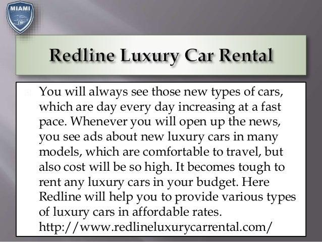 Redline Luxury Car Rental Slide 2