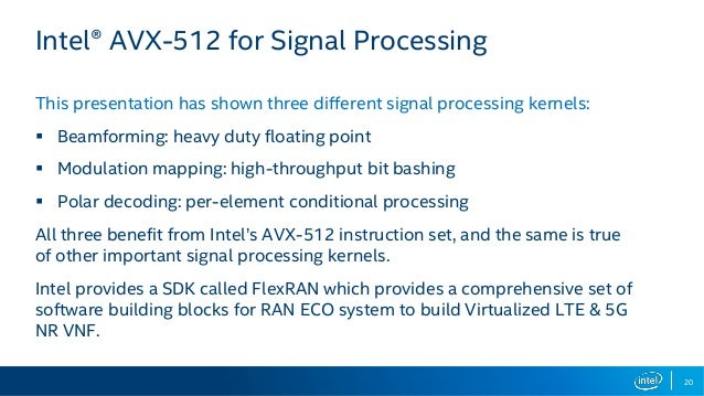 Building efficient 5G NR base stations with Intel® Xeon