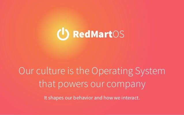 RedMartian Culture Code Slide 3
