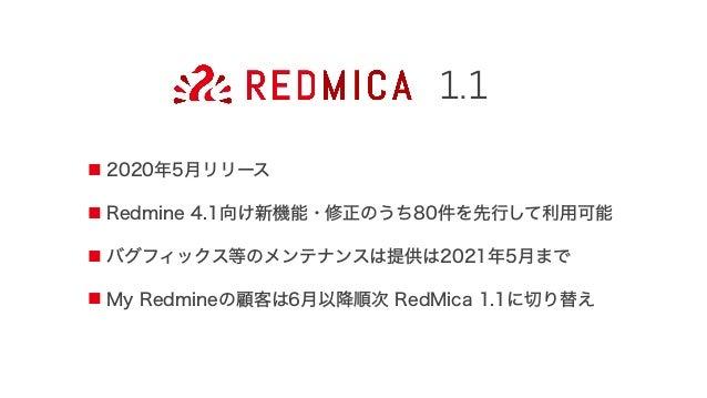 オープンソースソフトウェアとして公開。 ファーエンドテクノロジーの顧客でなくても誰でも利用可 gitclone-bstable-1.1https://github.com/redmica/redmica.git