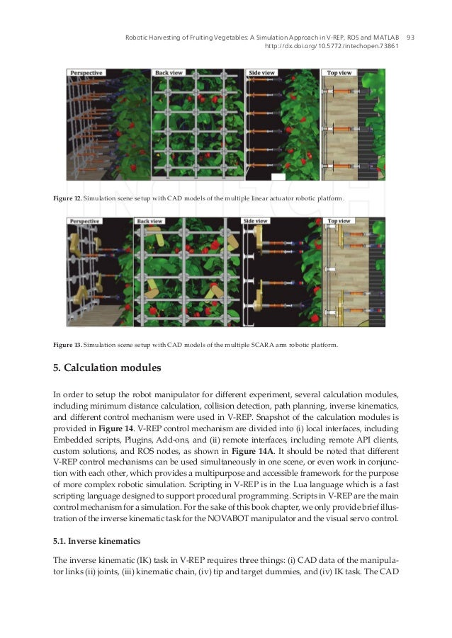 Robotic Harvesting of Fruiting Vegetables: A Simulation