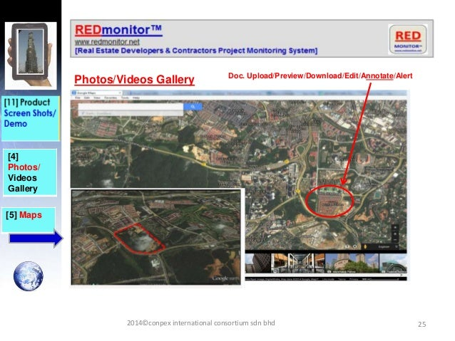 25 [4] Photos/ Videos Gallery Photos/Videos Gallery [5] Maps Doc. Upload/Preview/Download/Edit/Annotate/Alert 2014©conpex ...