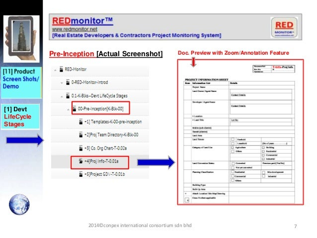 7 [1] Devt LifeCycle Stages Pre-Inception [Actual Screenshot] 2014©conpex international consortium sdn bhd Doc. Preview wi...