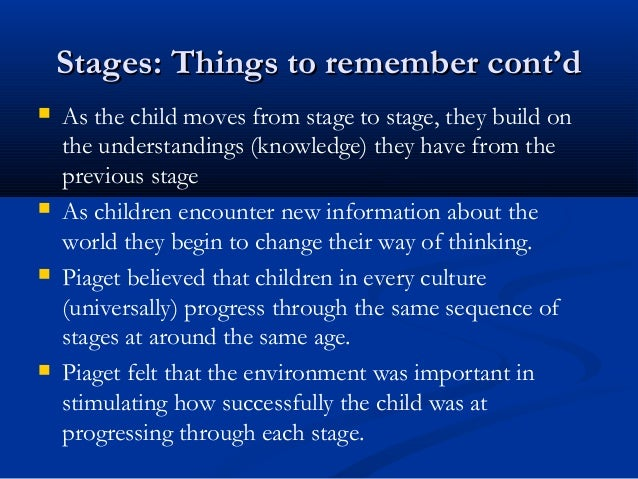 child development gradual change or series of stages Continuous development is when a child gradually develops by adding new knowlegde and skills onto old knowledge and skills (eg like learning the piano discontinuous development is when a child goes through clear stages and is less of a steady progression.