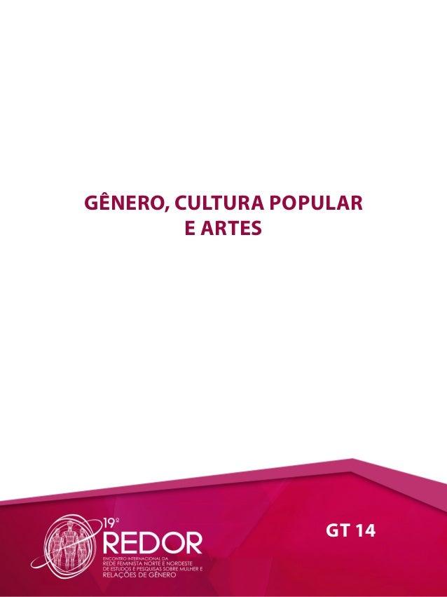 GT 14 GÊNERO, CULTURA POPULAR E ARTES