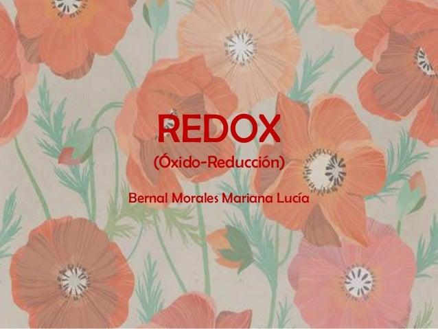 REDOX (Óxido-Reducción) Bernal Morales Mariana Lucía