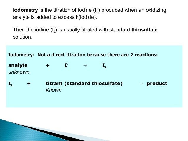 the indirect iodimetric analysis ascorbic acid Very important instructions: kindly refer the official communication of the university in the  ba r&s file  university of madras bachelor degree courses: under the faculty of.