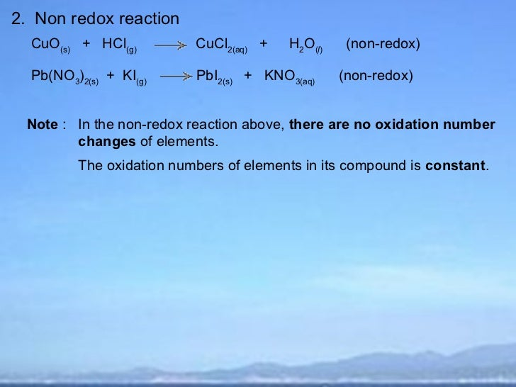 difference between metathesis and redox reactions Oxidation-reduction reactions or redox reactions can involve the there is an almost foolproof method of distinguishing between metathesis and redox reactions.