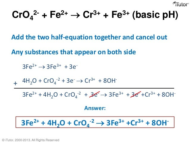 Oxidation-reduction or metathesis reactions