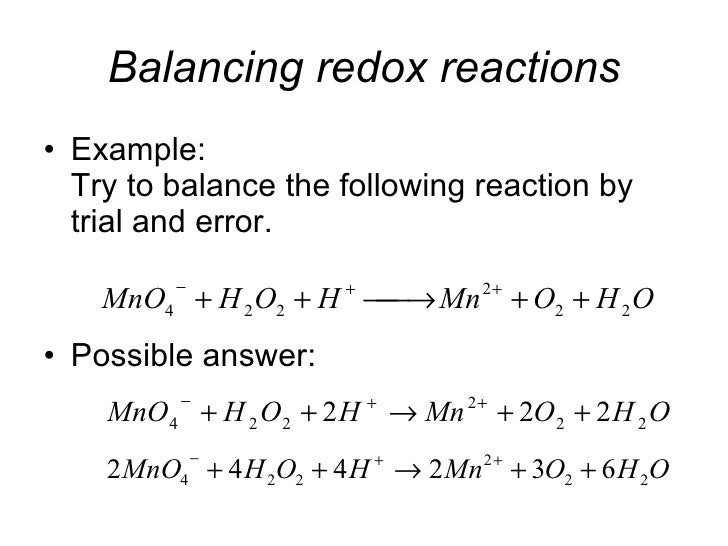 balancing redox equations worksheet pdf kidz activities. Black Bedroom Furniture Sets. Home Design Ideas