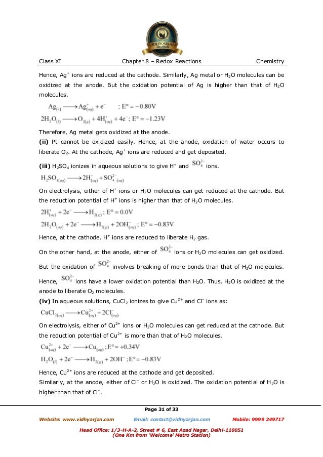 redox reaction questions and answers pdf