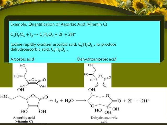 vitamin c redox titration