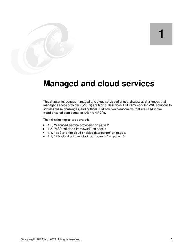2 IBM PureFlex System Solutions for Managed Service Providers 1.1 Managed service providers Managed service provider (MSP)...
