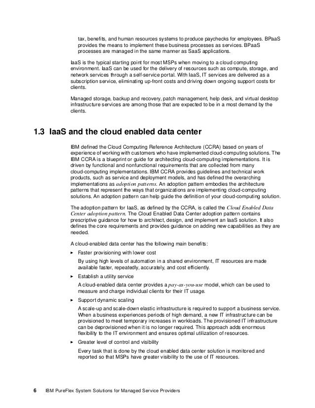 Chapter 1. Managed and cloud services 7 The following list describes the key functional layers for the MSP's cloud-enabled...