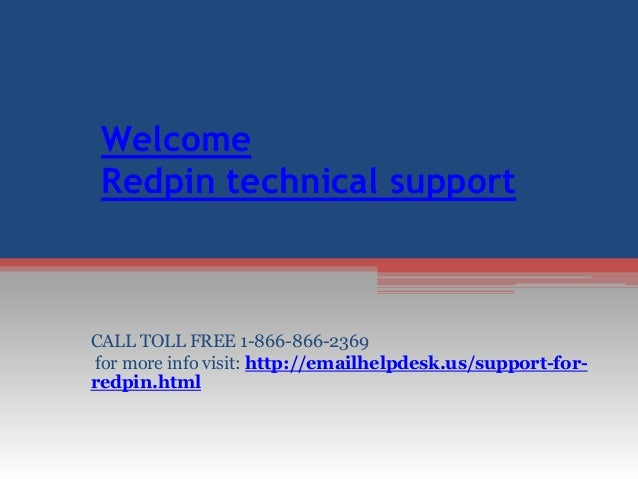 Quick Solution @ Redpin mail support phone number 1-866-866
