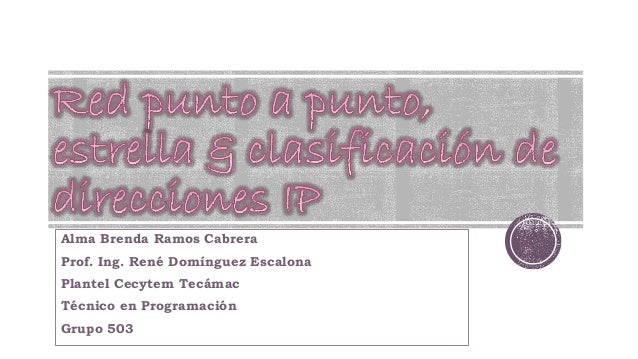 Alma Brenda Ramos Cabrera Prof. Ing. René Domínguez Escalona Plantel Cecytem Tecámac Técnico en Programación Grupo 503
