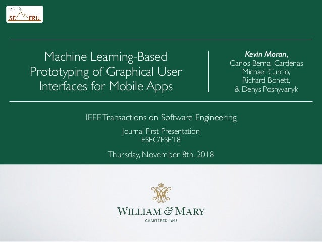 Machine Learning-Based Prototyping of Graphical User Interfaces for Mobile Apps IEEETransactions on Software Engineering J...