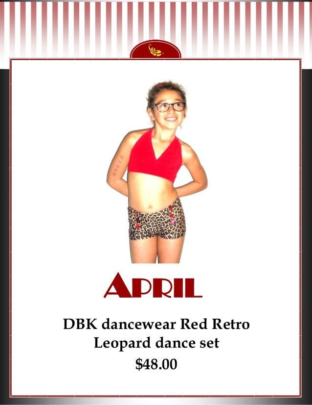 APRIL DBK dancewear Red Retro Leopard dance set $48.00