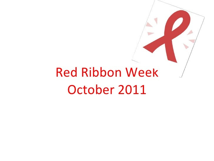 Red Ribbon Week October 2011