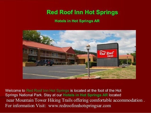 High Quality Red Roof Inn Hot Springs Hotels In Hot Springs ARWelcome To Red Roof ...