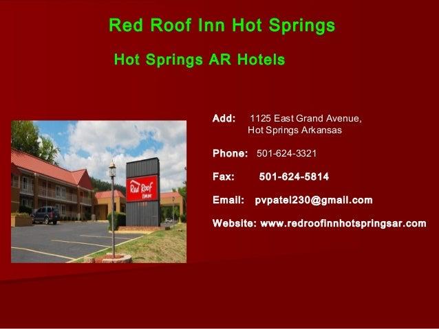 Perfect Red Roof Inn Hot SpringsHot Springs ...