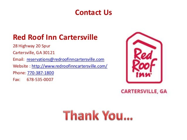 ... 10. Contact Us Red Roof Inn Cartersville ...