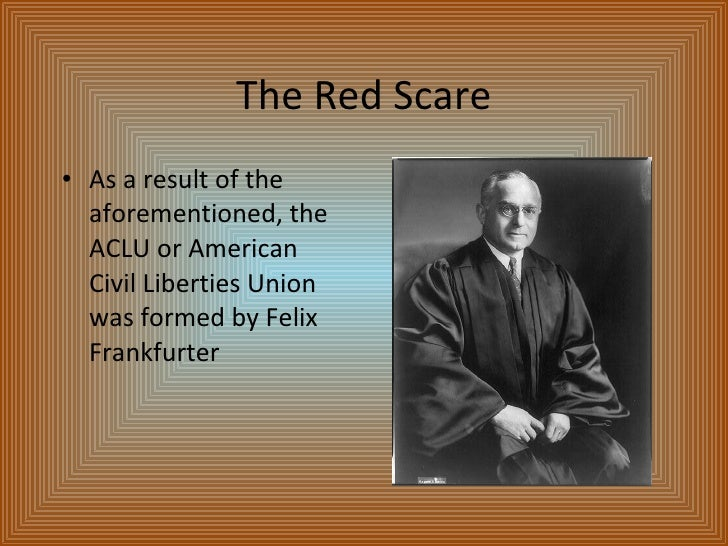 the red scare Selection taken from the forthcoming cd rom who built america,v ii the  palmer raids the climate of repression established during world war one  continued.