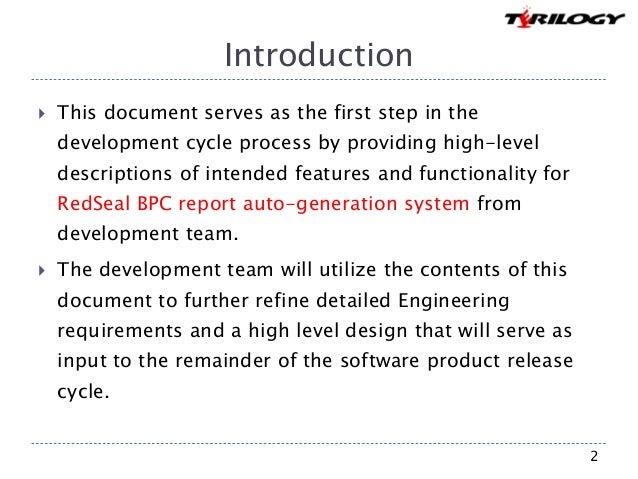 RedSeal BPC report auto generation system Slide 2