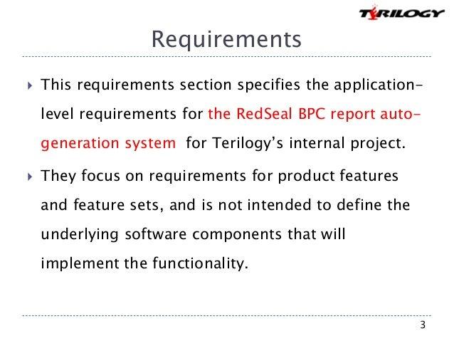 RedSeal BPC report auto generation system Slide 3