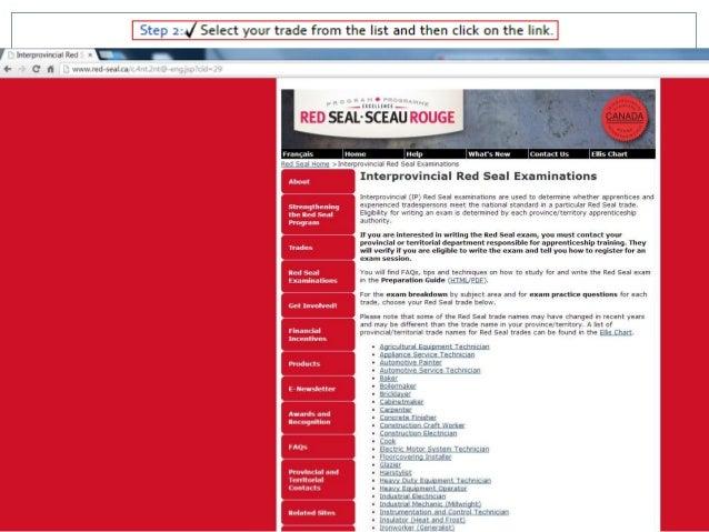 Red seal exam prep sciox Images
