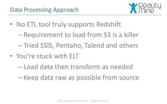 Migration to Redshift from SQL Server