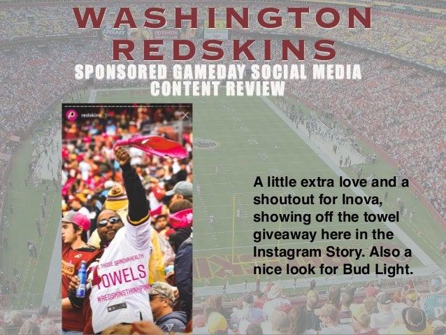 3ab1814812f Washington Redskins Sponsored Gameday Social Media Content ...