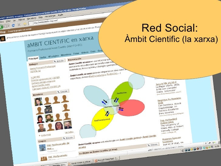 Red Social:  Àmbit Cientific (la xarxa)