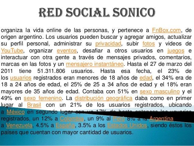 organiza la vida online de las personas, y pertenece a FnBox.com, deorigen argentino. Los usuarios pueden buscar y agregar...