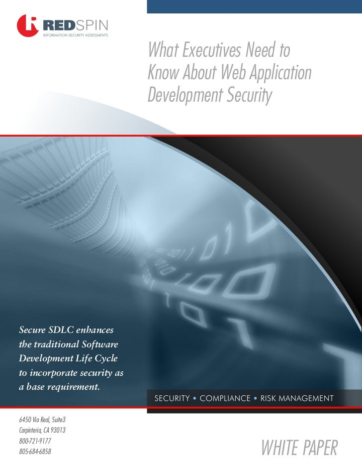 Web Application Development Security - Redspin Information Security